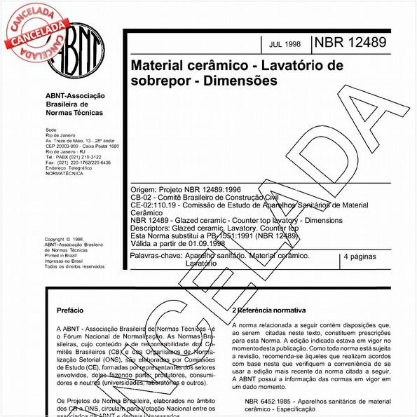 NBR12489 de 06/2004