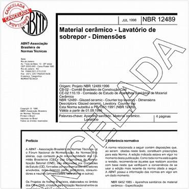 NBR12489 de 07/1998