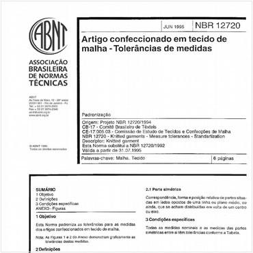 NBR12720 de 06/1995