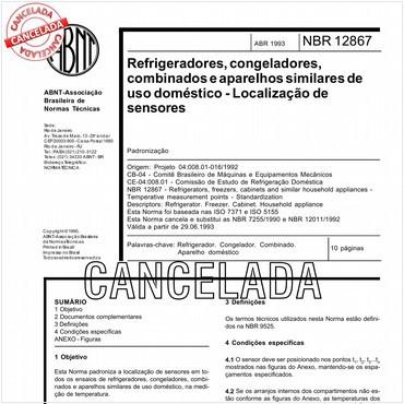 NBR12867 de 04/1993