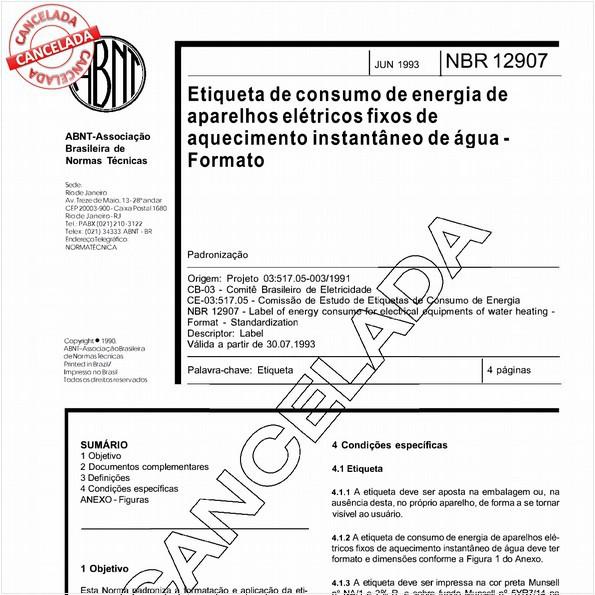NBR12907 de 11/2003