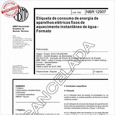 NBR12907 de 06/1993