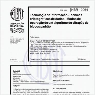 NBR12964 de 09/1993