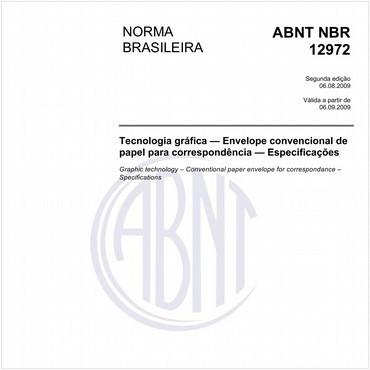 NBR12972 de 08/2009