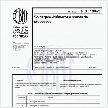 NBR13043 de 09/1993