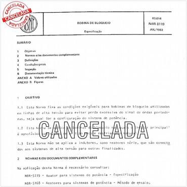 NBR8119 de 07/1983