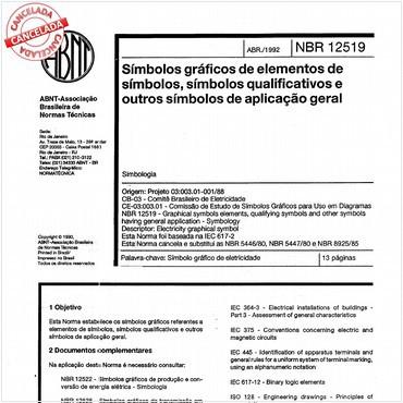 NBR12519 de 04/1992