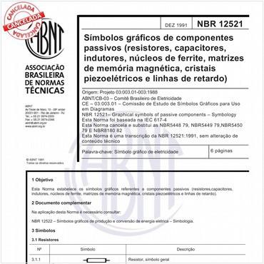 NBR12521 de 12/1991