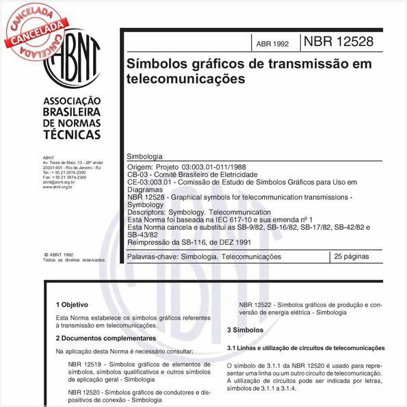 Símbolos gráficos de transmissão em telecomunicações