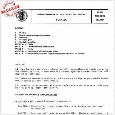 NBR7098 de 12/1981