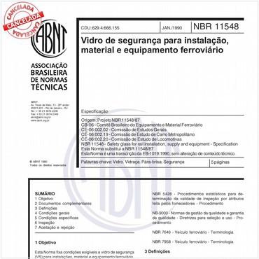 NBR11548 de 01/1990
