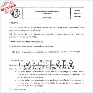 NBR6513 de 01/1985