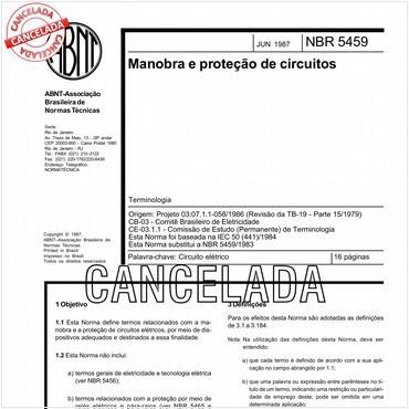 NBR5459 de 06/1987