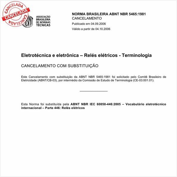 Eletrotécnica e eletrônica - Relés elétricos
