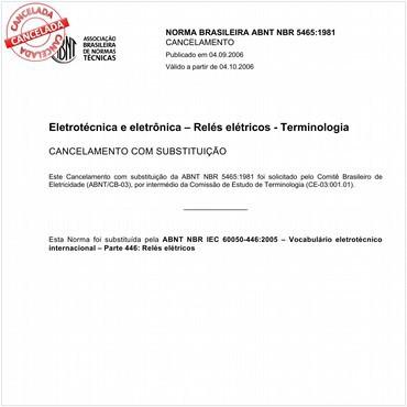 NBR5465 de 08/1981
