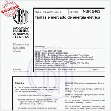 NBR5463 de 04/1992