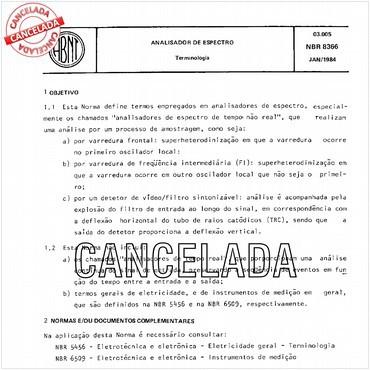 NBR8366 de 01/1984