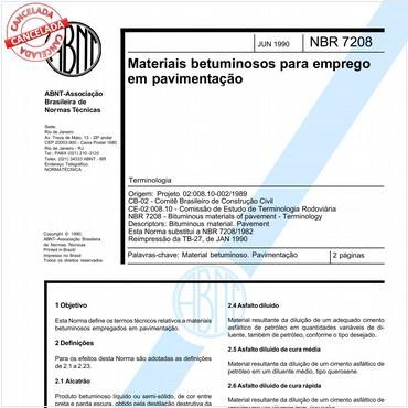 NBR7208 de 06/1990