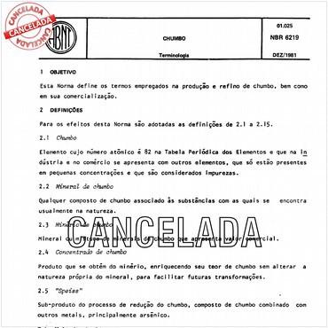 NBR6219 de 12/1981