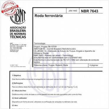 NBR7643 de 01/1992