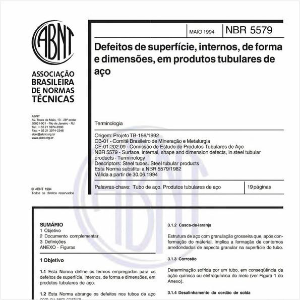 Defeitos de superfície, internos, de forma e dimensões, em produtos tubulares de aço