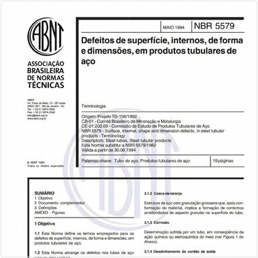 NBR5579 de 05/1994