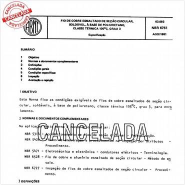 NBR6761 de 08/1981