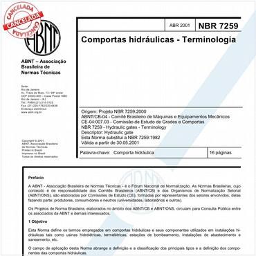 NBR7259 de 04/2001