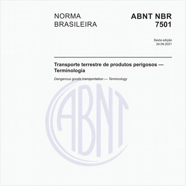 Transporte terrestre de produtos perigosos — Terminologia