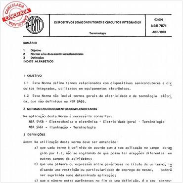 NBR7874 de 04/1983