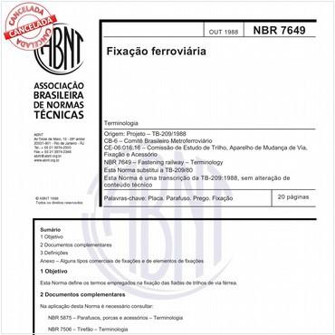 NBR7649 de 10/1988