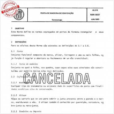 NBR8037 de 06/1983