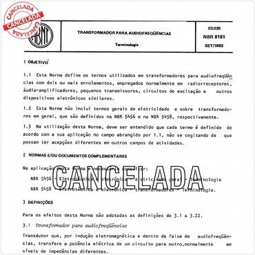 NBR8181 de 09/1983