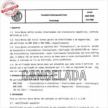 NBR8342 de 12/1983