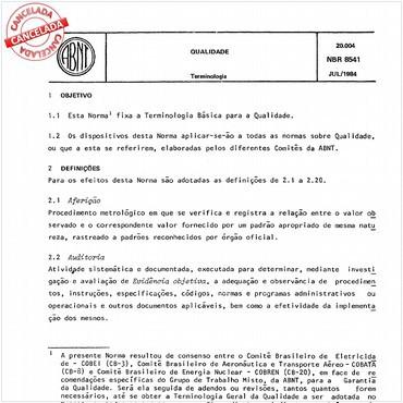 NBR8541 de 07/1984