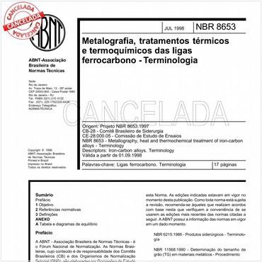 NBR8653 de 07/1998