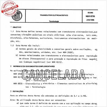 NBR8735 de 01/1985