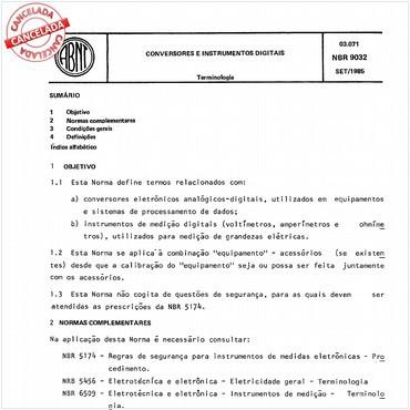 NBR9032 de 09/1985