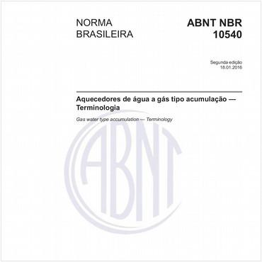 NBR10540 de 01/2016