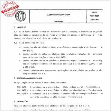 NBR9331 de 04/1986