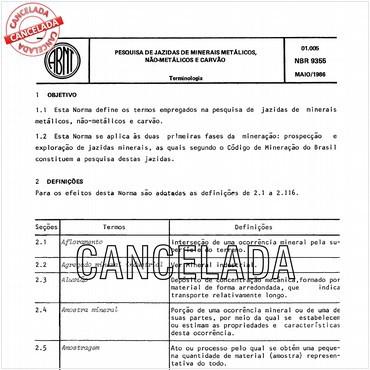 NBR9355 de 05/1986