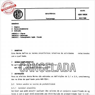 NBR10536 de 11/1988
