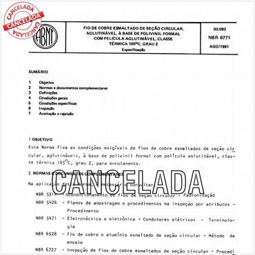 NBR6771 de 08/1981