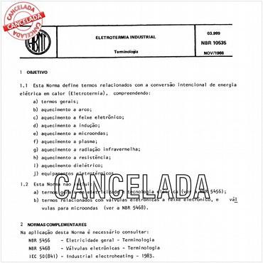 NBR10535 de 11/1988