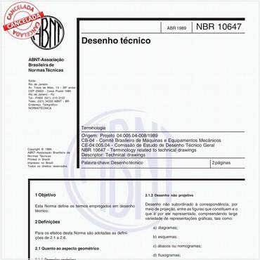 NBR10647 de 04/1989