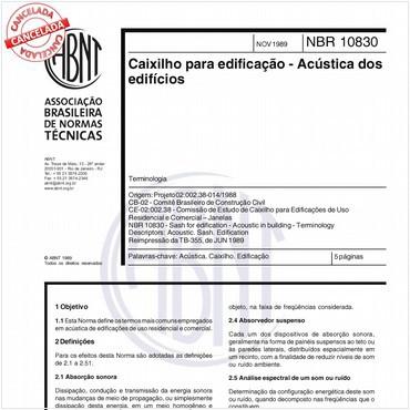 NBR10830 de 11/1989