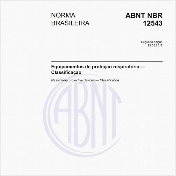 Equipamentos de proteção respiratória - Classificação