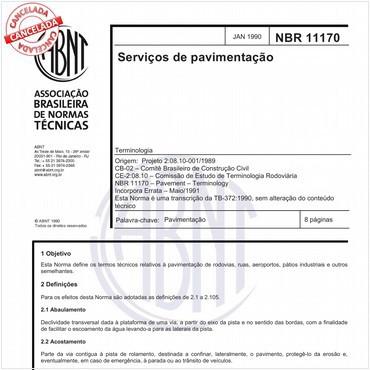 NBR11170 de 01/1990