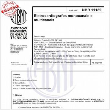 NBR11189 de 03/1990