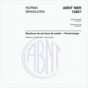 NBR12807 de 05/2013